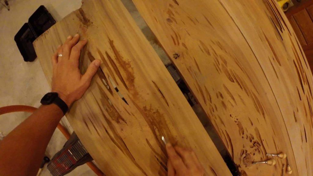 pecky cypress remove debris