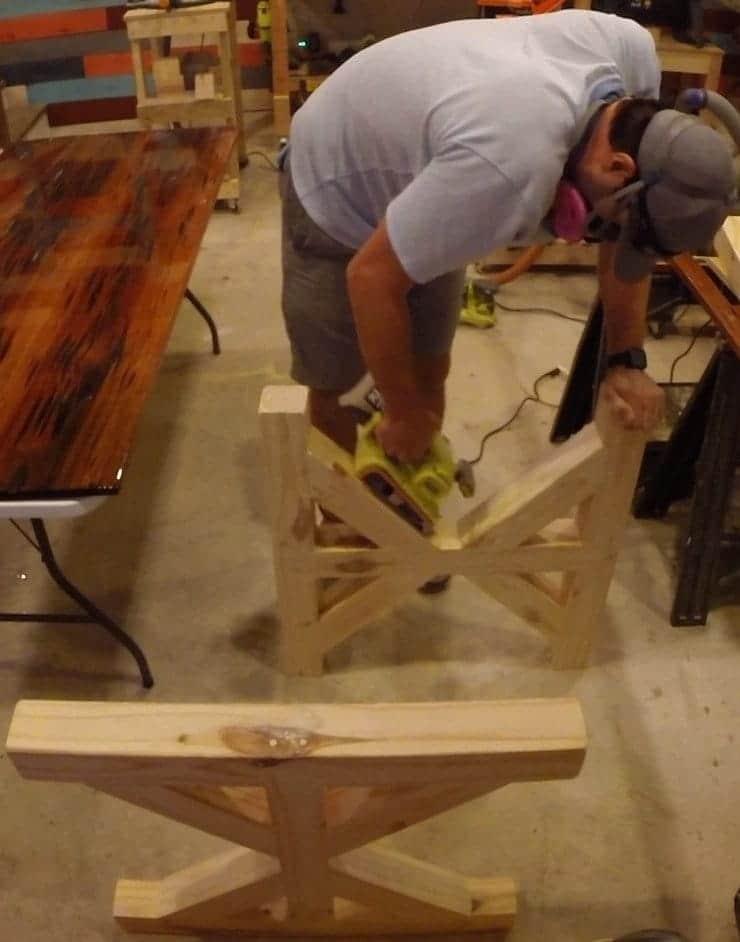 Farmhouse style dining table bottom