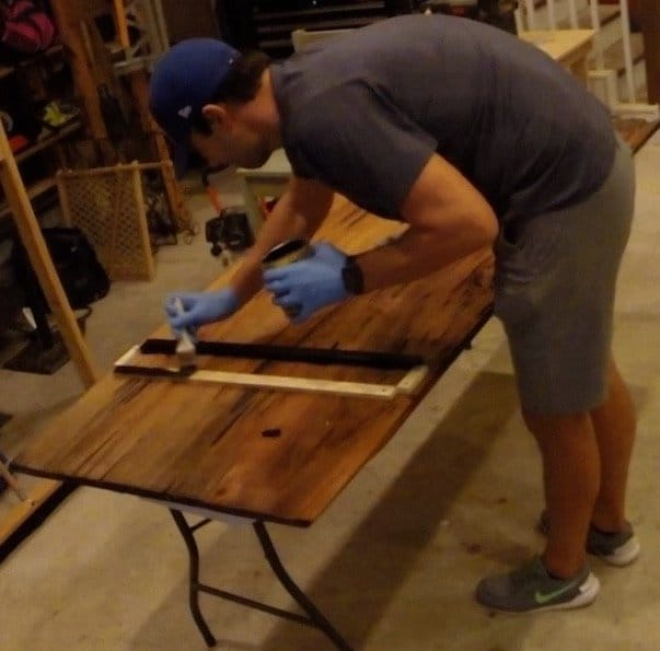 level epoxy dining table top