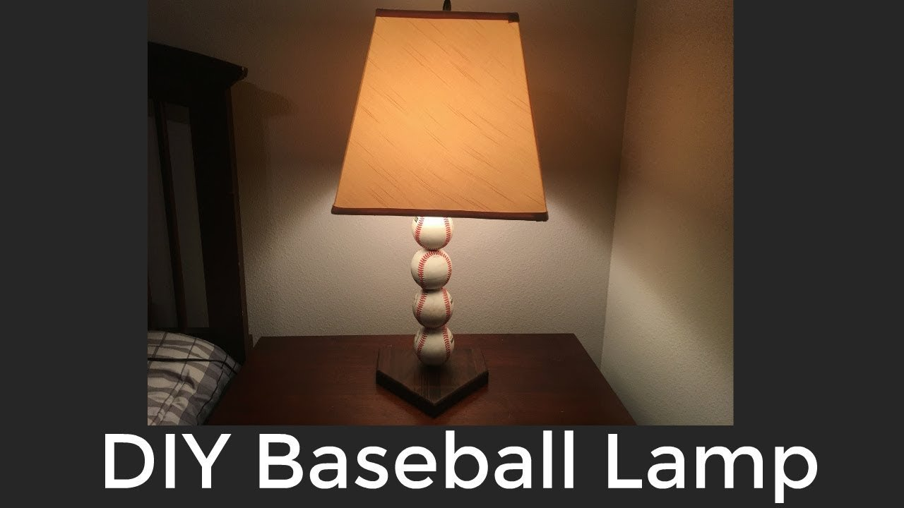 DIY Baseball Lamp
