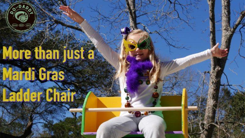 Mardi Gras Ladder Chair