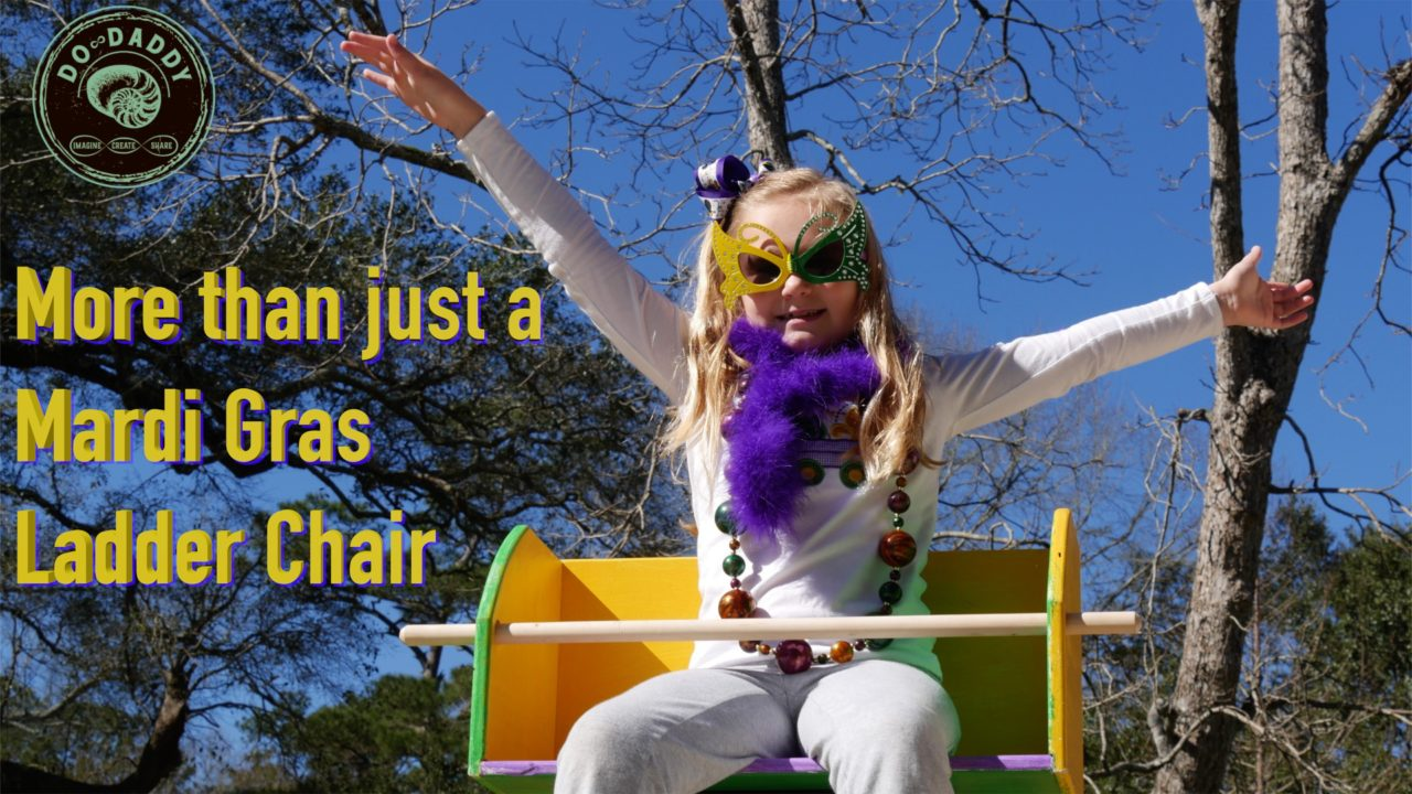 Mardi Gras Ladder Chair