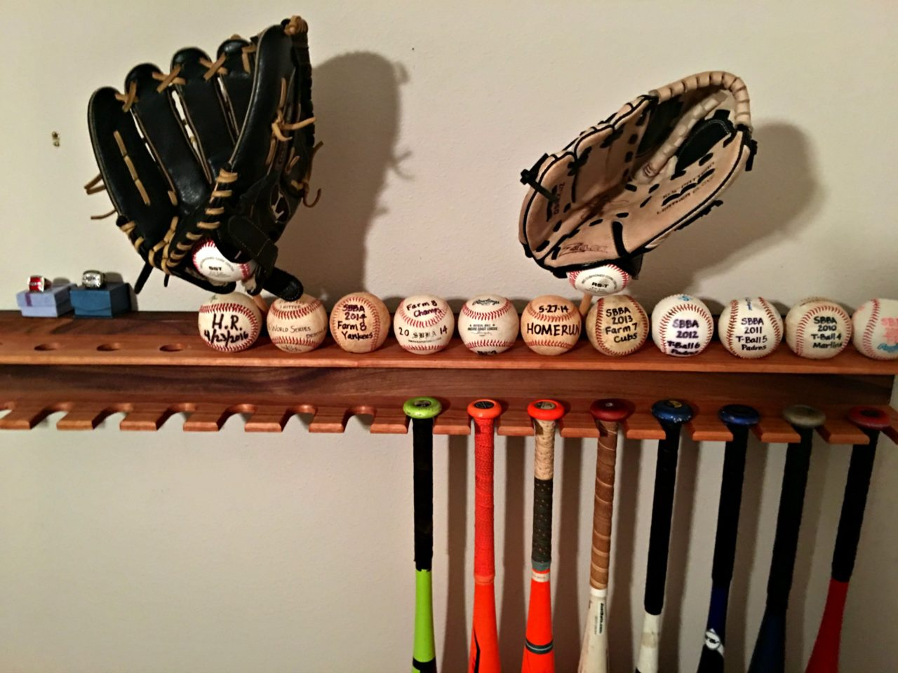 Diy Baseball Bat Display Rack Pahjo Designs