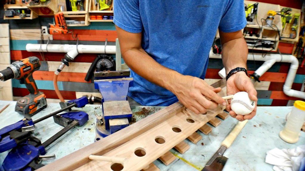 Baseball Bat Display Rack Baseball for Glove