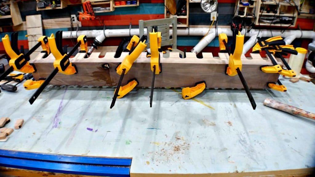 Baseball Bat Display Rack Clamps