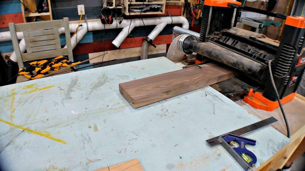 Baseball Bat Display Rack Walnut Straight Edge & Planer