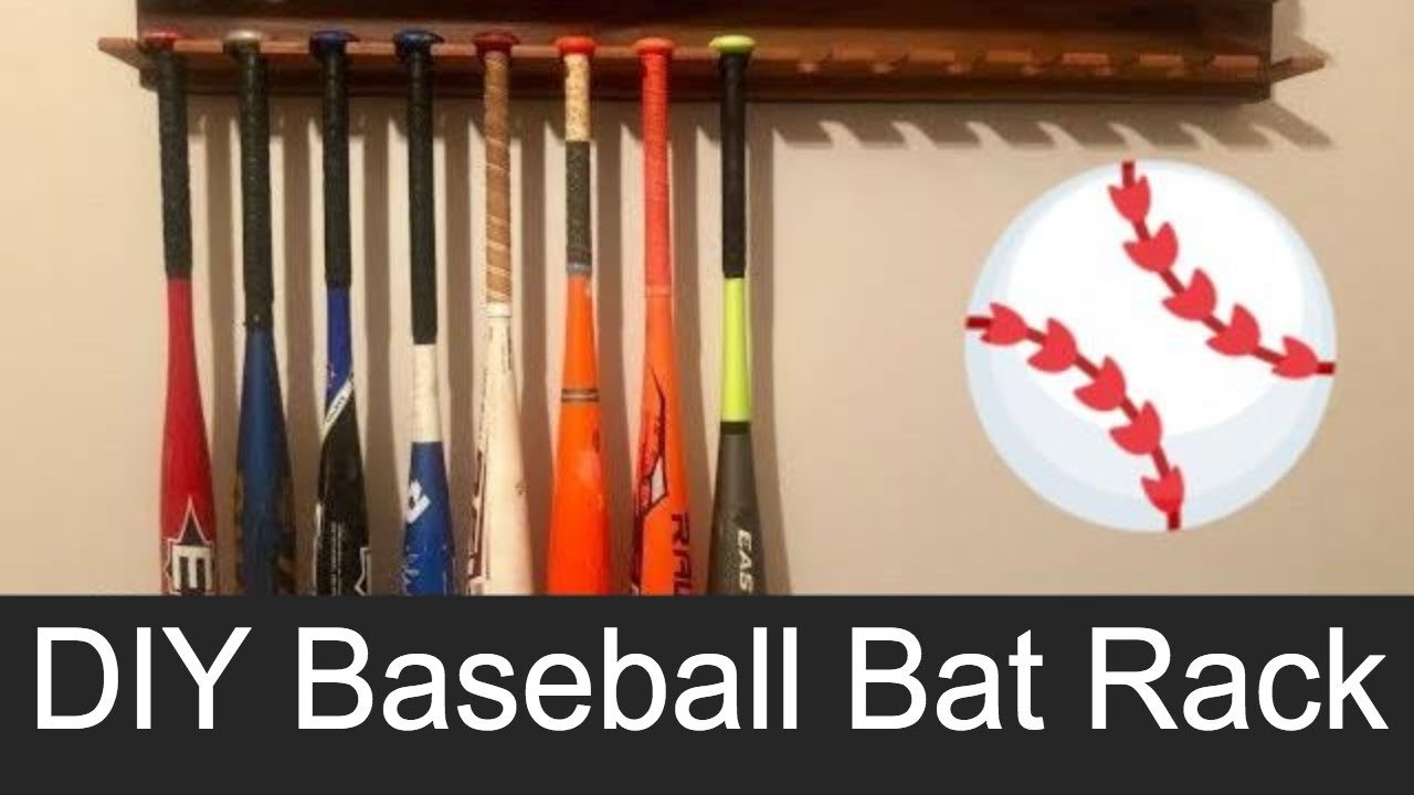 DIY Baseball Bat Display Rack