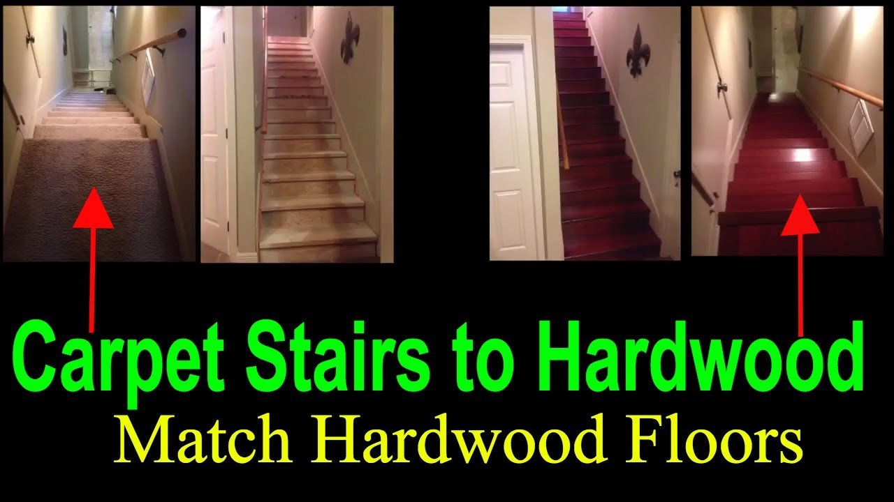 how to replace carpet stairs with wood