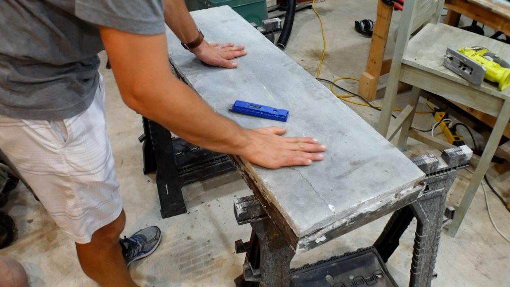 Walnut River Table - Broken Concrete Fix 2