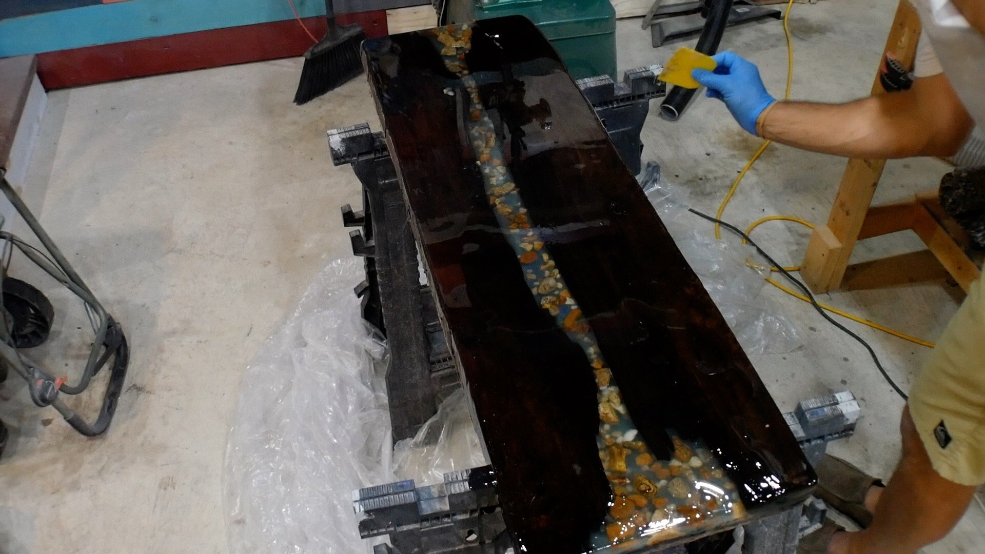 Walnut River Table - Epoxy Final 2