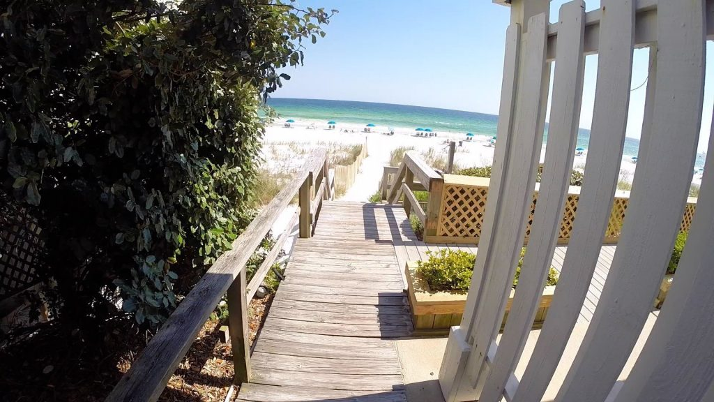 Paddle Boarding in Destin Florida - Beach Entrance