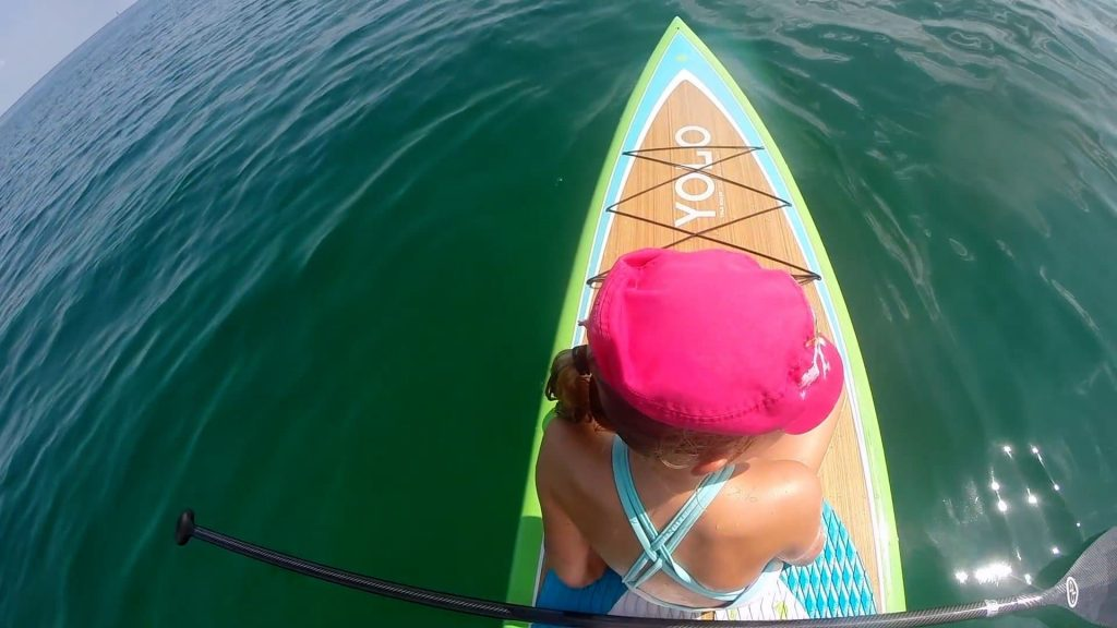 Paddle Boarding in Destin Florida - Mattie on Front