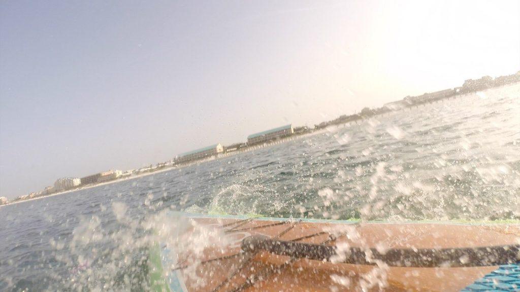 Paddle Boarding in Destin Florida - Falling on Sharks