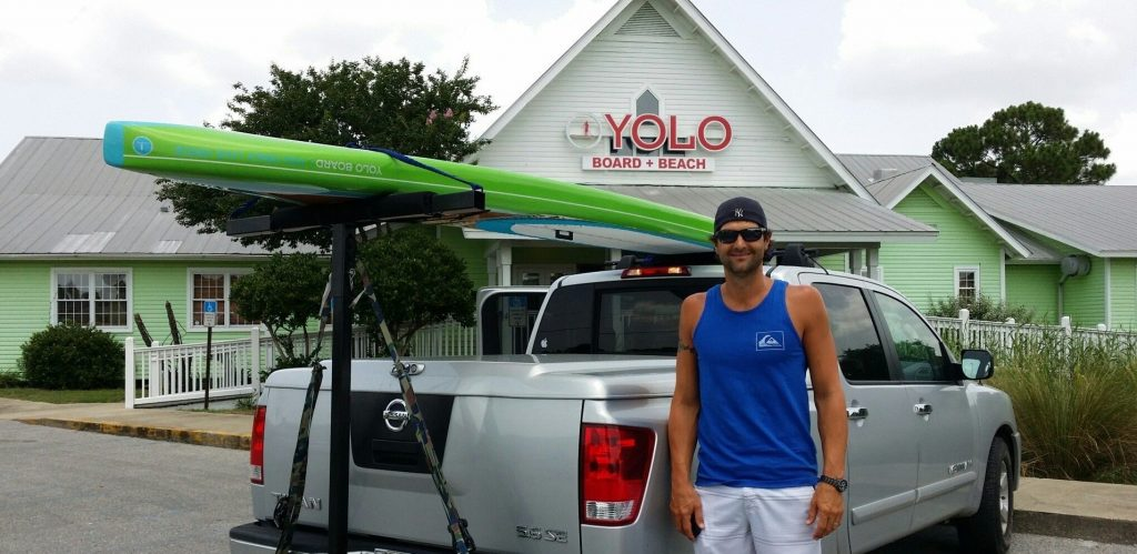 Paddle Boarding in Destin Florida - Yolo Racing Board