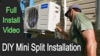 diy mini split installation