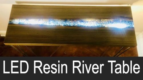 LED Resin River Table
