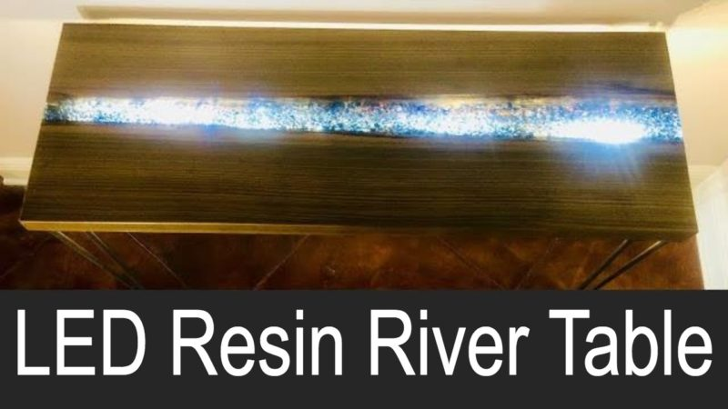 LED Resin River Table
