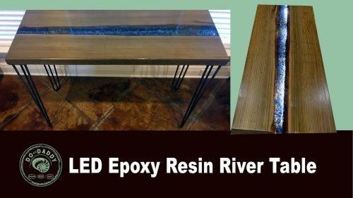 Epoxy Resin River Table - Thumbnail