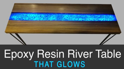 epoxy resin river table - resin glow table
