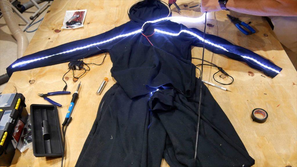 DIY LED Light Costume Hot Glue