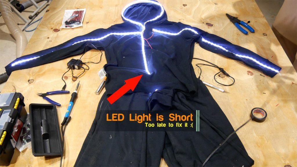 DIY LED Light Costume Measurement