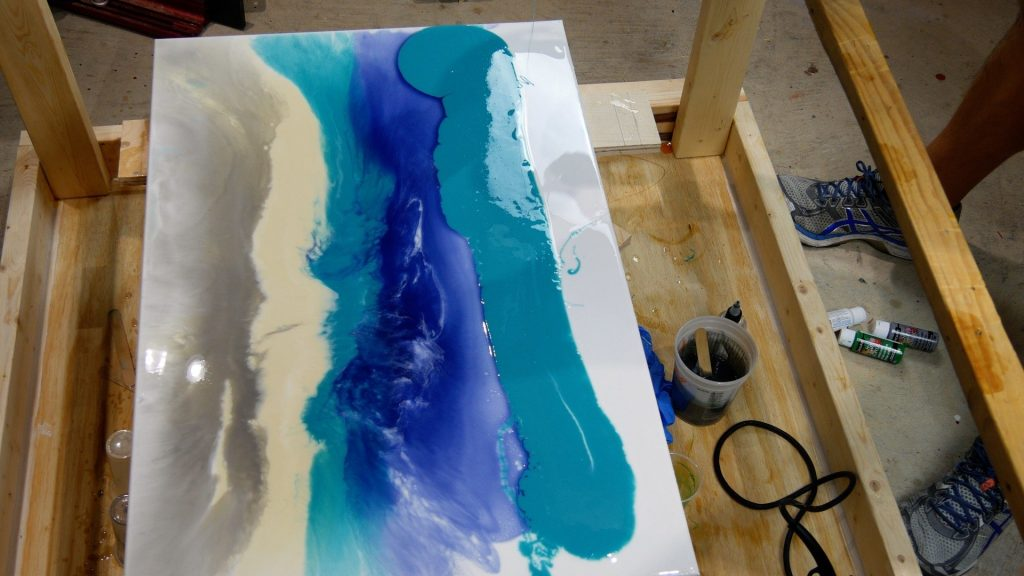 make resin art effects on canvas