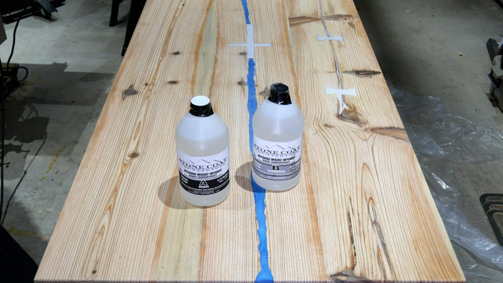 how to make a rustic table with epoxy resin - StoneCoat Countertops