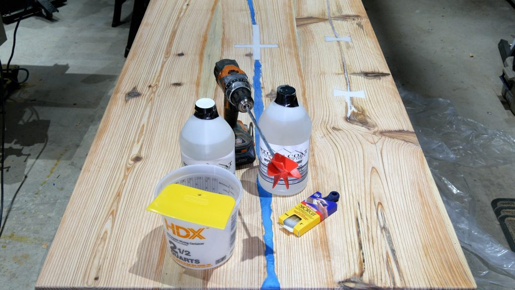 how to make a rustic table with epoxy resin - epoxy tools