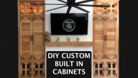 Custom DIY Built In Cabinets