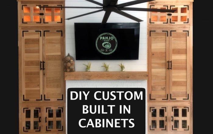 Custom DIY Built In Cabinets