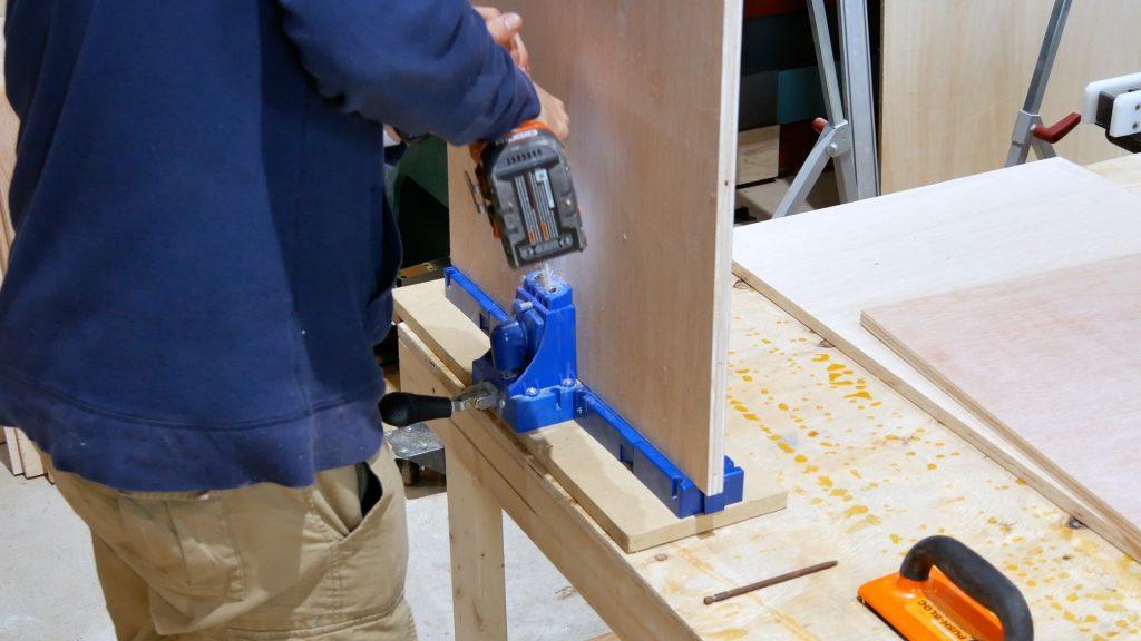 DIY Custom Built In Cabinets Pocket Holes