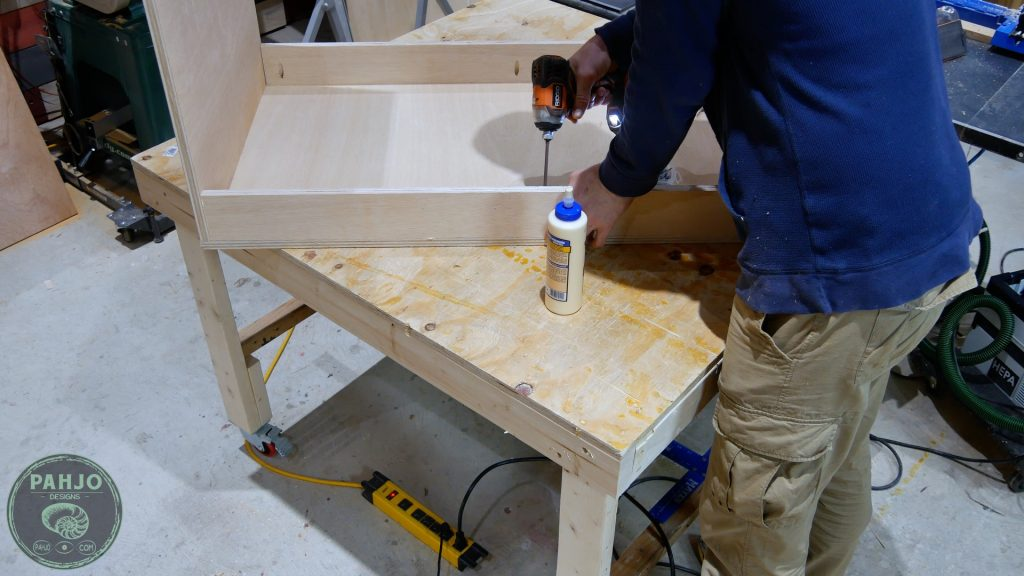 DIY Built in Cabinets front back supports