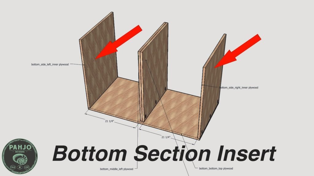 DIY Built in Cabinets bottom section insert