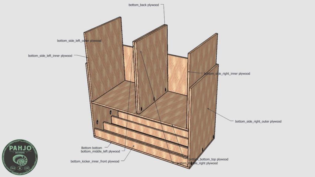 DIY Built in Cabinets bottom insert