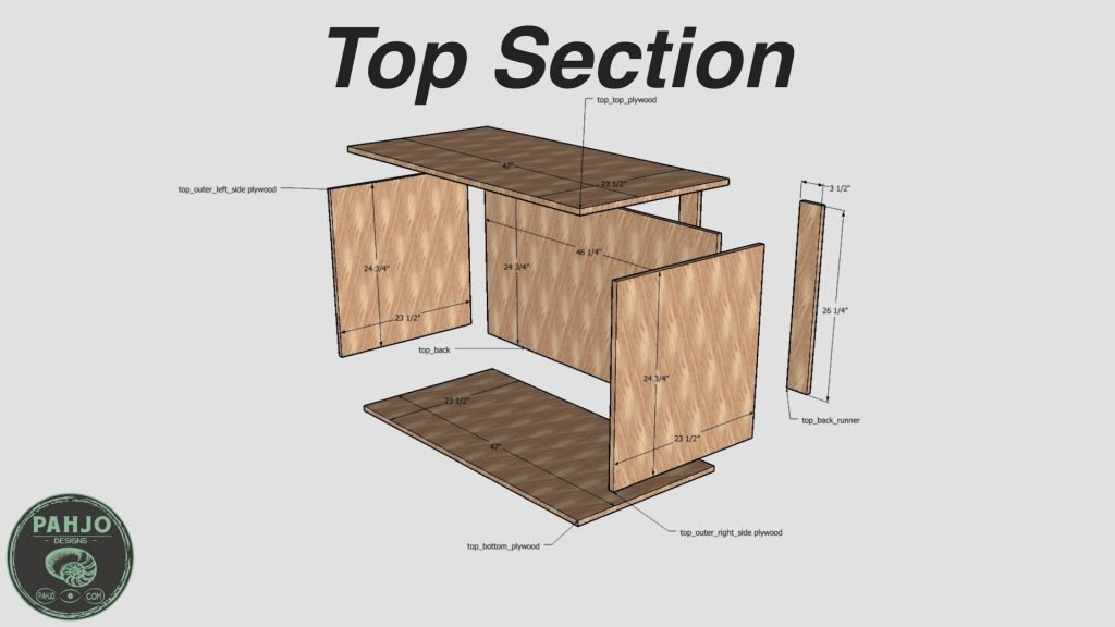 DIY Custom Built In Cabinets Top Section