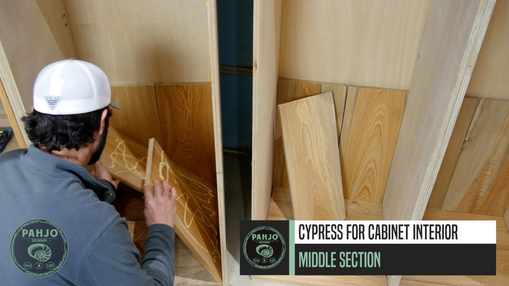 DIY Custom Built In Cabinets cypress middle