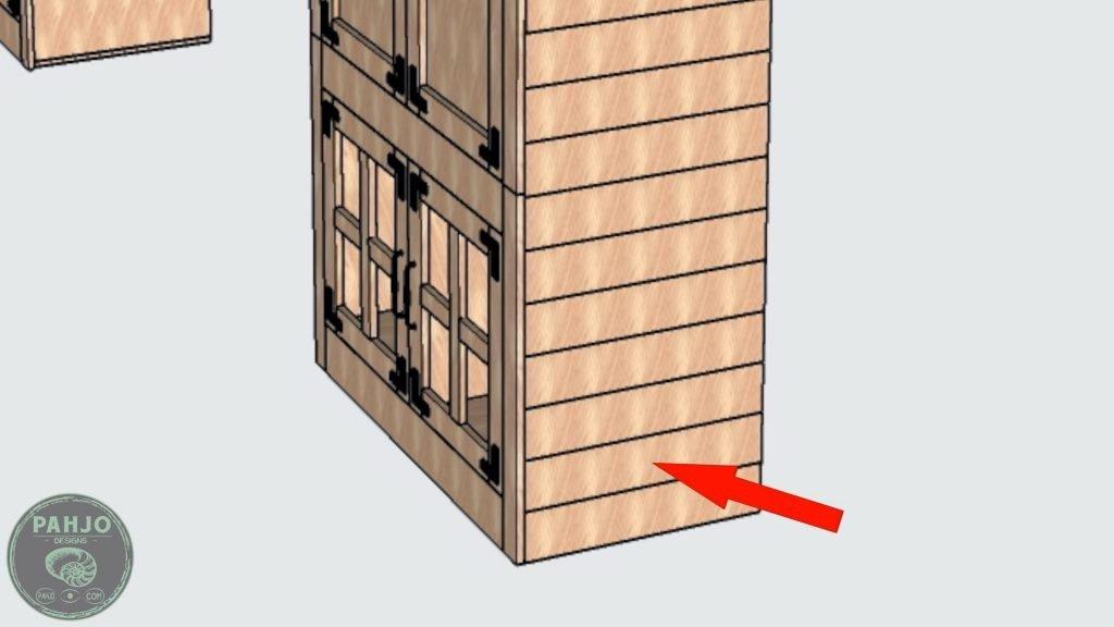 DIY Custom Built In Cabinets cypress shiplap