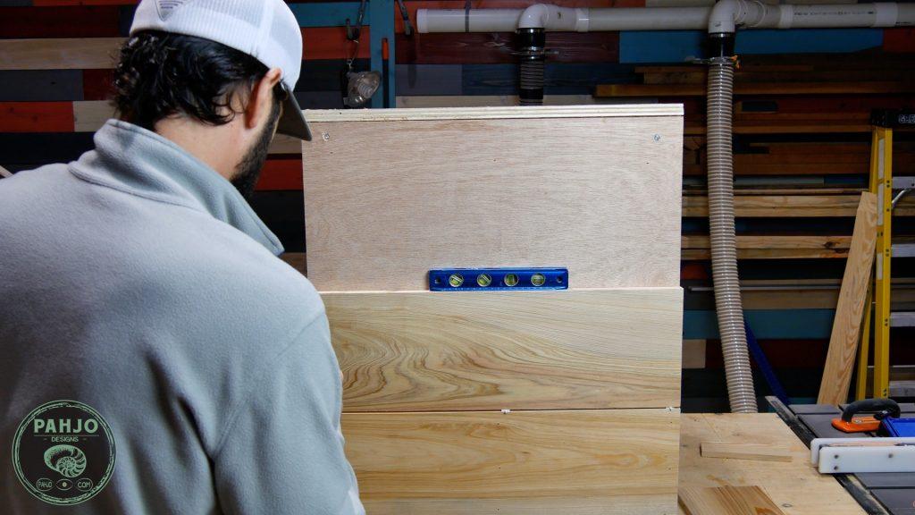 DIY Custom Built In Cabinets cypress shiplap spacer