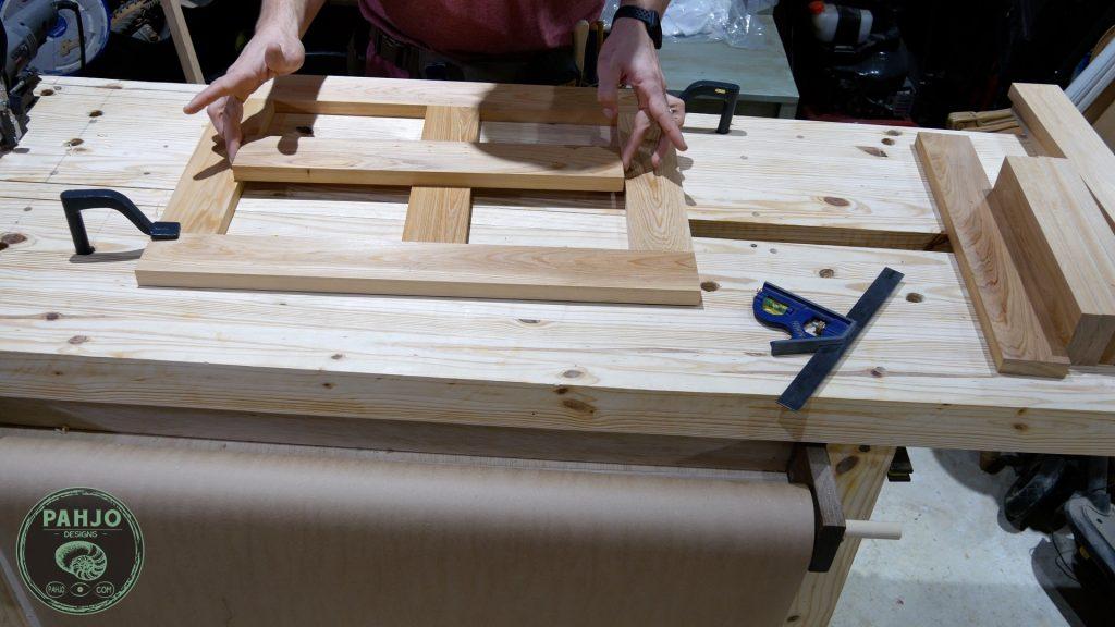 diy custom built in cabinets doors cross halving joint