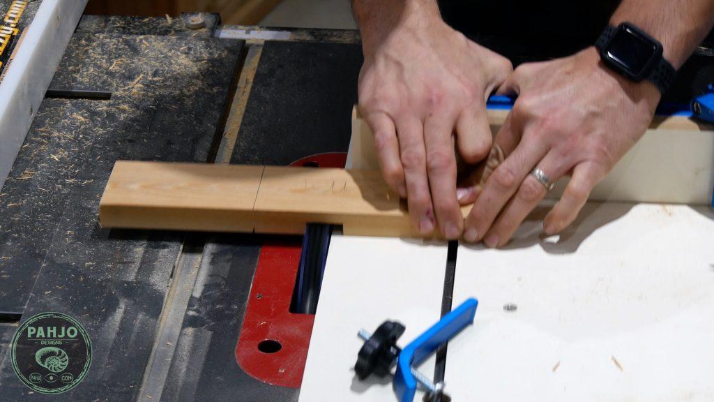 diy custom built in cabinets doors cross halving joint dado blade