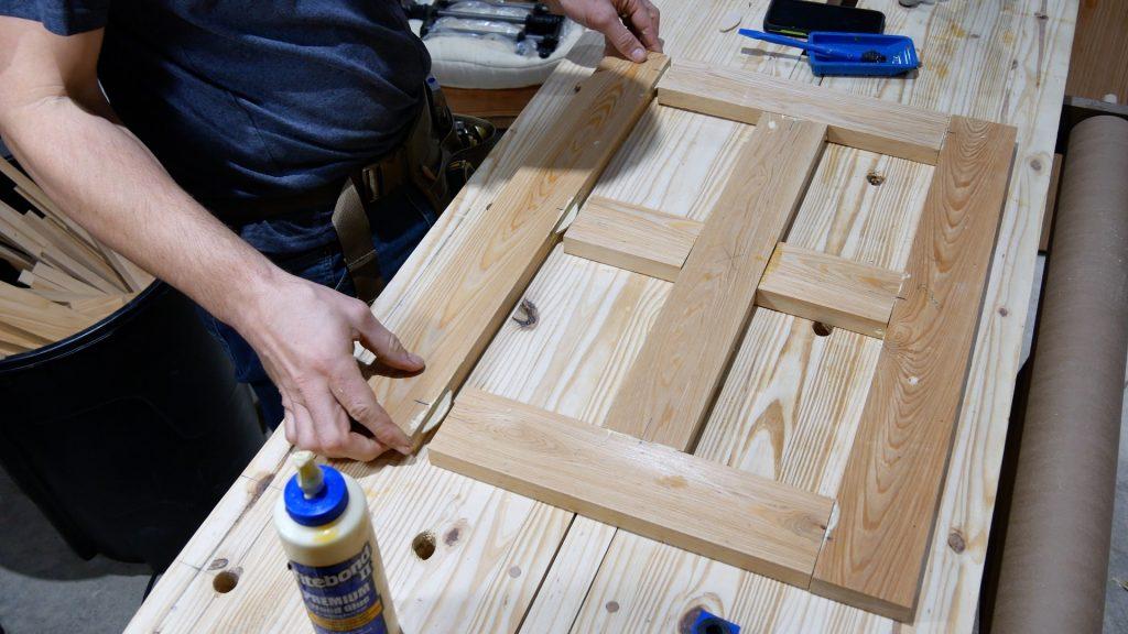 diy custom built in cabinet doors top section