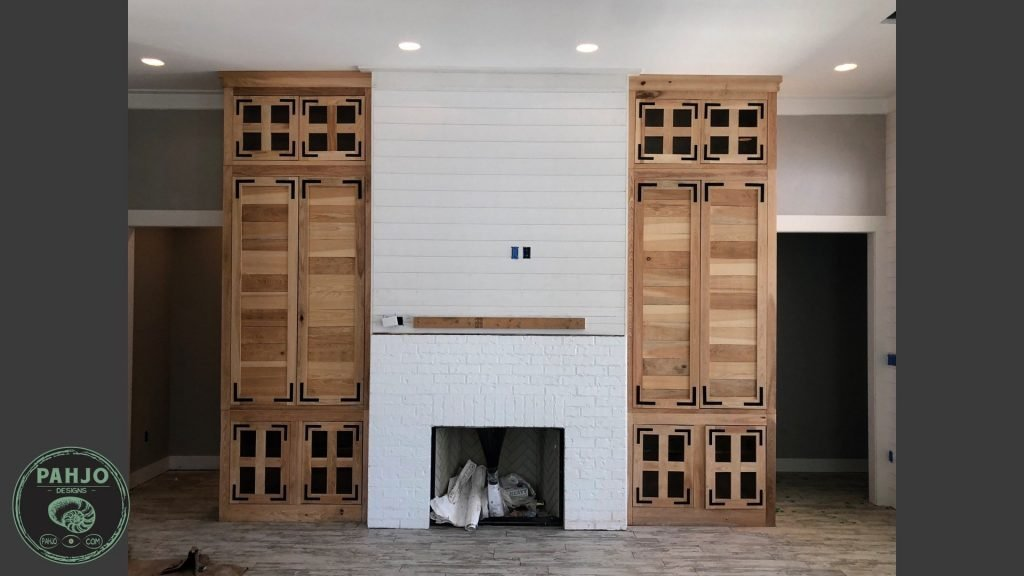 diy custom built in cabinets final picture