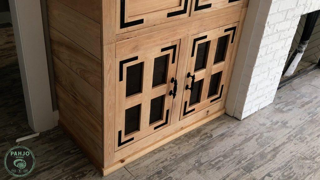 diy custom built in cabinets final bottom section
