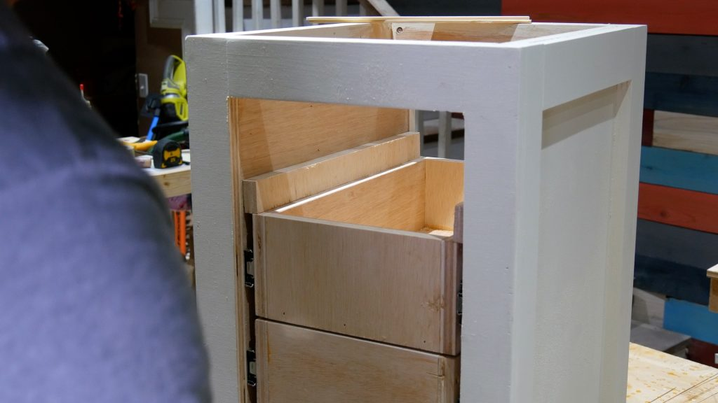 DIY Base Cabinet with Drawers_drawer slide placement