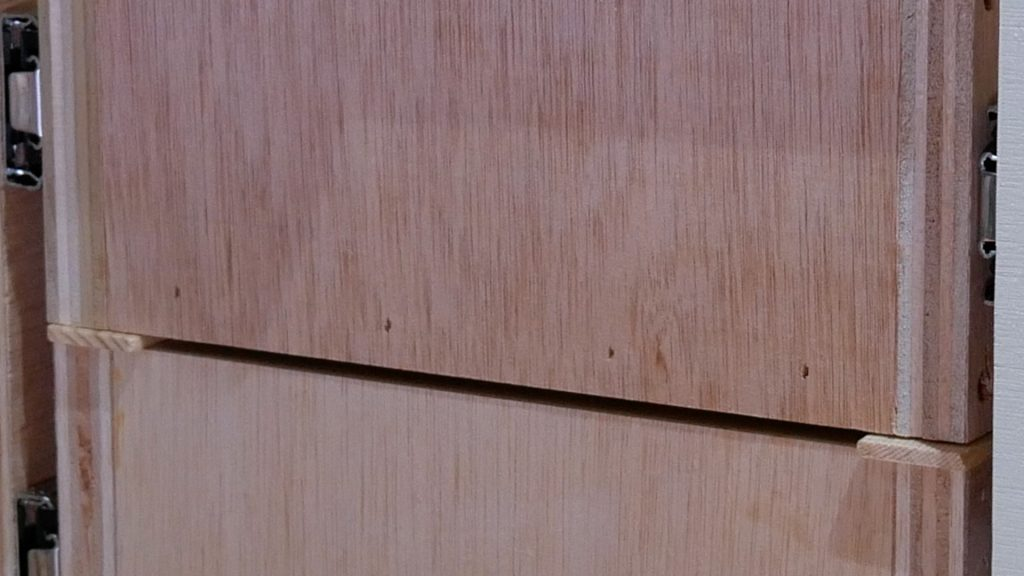 DIY Base Cabinet with Drawers_space between drawer faces