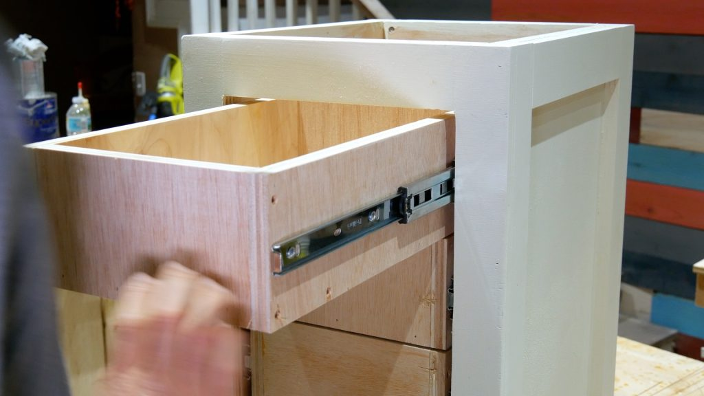 DIY Base Cabinet with Drawers_finish installation