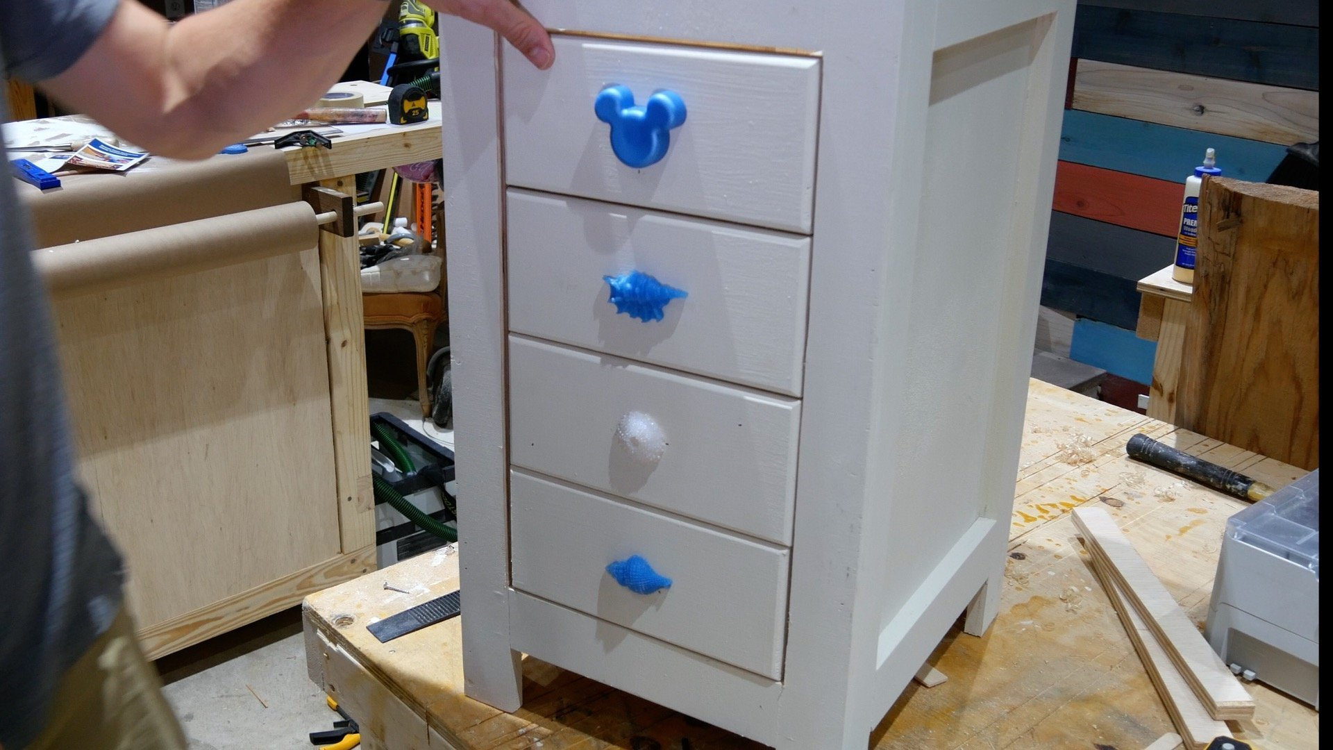 DIY Base Cabinet With Drawers_drawer Face Installation Complete