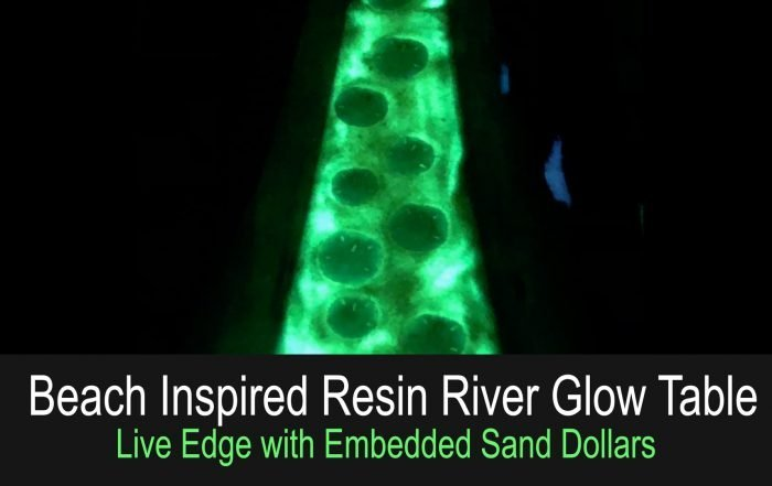 How to Make a Live Edge Resin River Glow Table - version 2