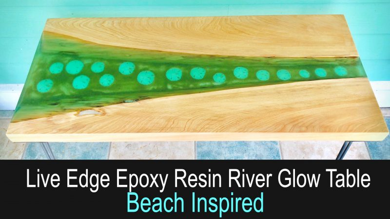 How to Make a Live Edge Resin River Glow Table - Beach Inspired_90