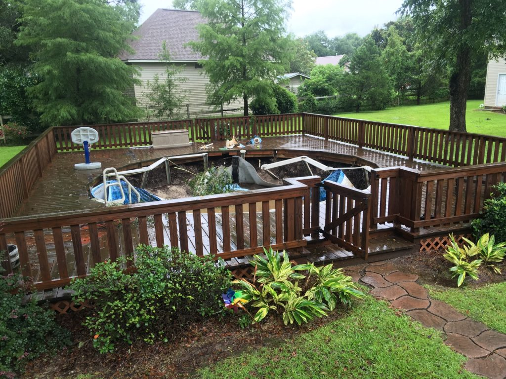 how to use old fence boards on a wall_above ground pool collapsed inward